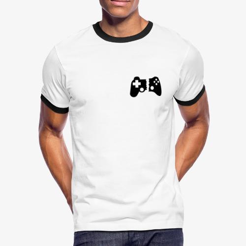 DER LÄSSIGE - WHITE - Männer Kontrast-T-Shirt