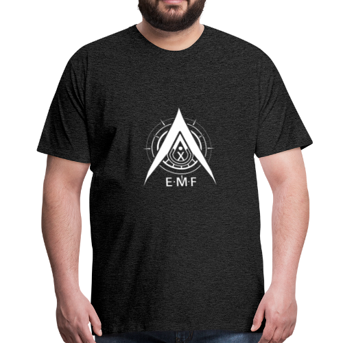 Men Premium T-Shirt - EMF Logo White - Men's Premium T-Shirt