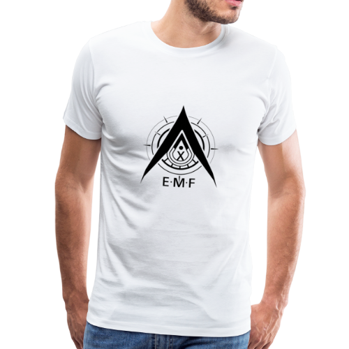 Men Premium T-Shirt - EMF Logo Black - Men's Premium T-Shirt
