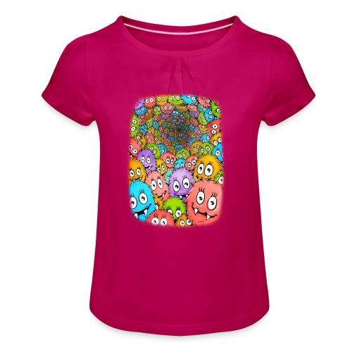 Kuschelrama - Mädchen-T-Shirt mit Raffungen