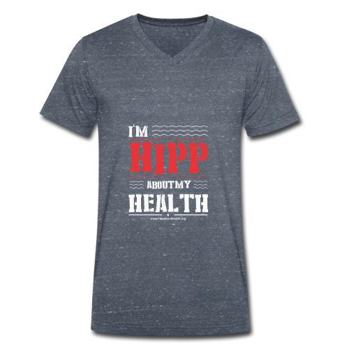 I'm hipp about my health - Mannen bio T-shirt met V-hals van Stanley & Stella