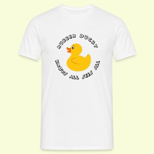 Rubber duck sees all - Men's T-Shirt