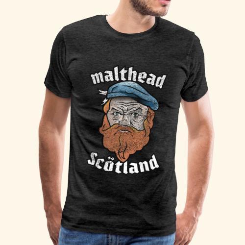 Whisky T-Shirt Malthead für Whisky-Fans - Männer Premium T-Shirt