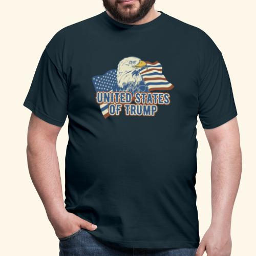 Red, white and blue - the US flag according to Donald Trump T-Shirt - Männer T-Shirt