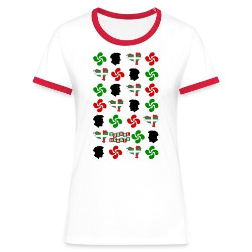 Pays Basque - T-shirt contrasté Femme