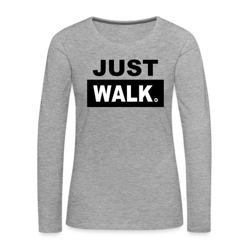 Dames Premium T-Shirt met lange mouwen in grijs - Vrouwen Premium shirt met lange mouwen