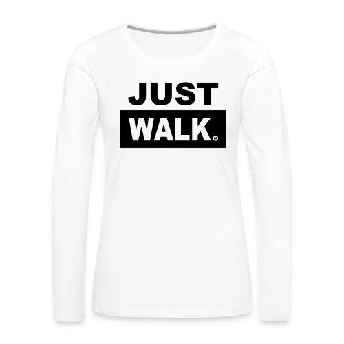 Dames Premium T-Shirt met lange mouwen in wit - Vrouwen Premium shirt met lange mouwen