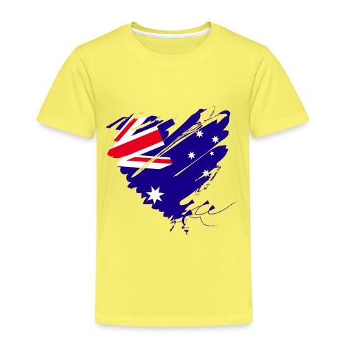 Australien Sydney Kontinent Grunge Herz Flagge - Kinder Premium T-Shirt
