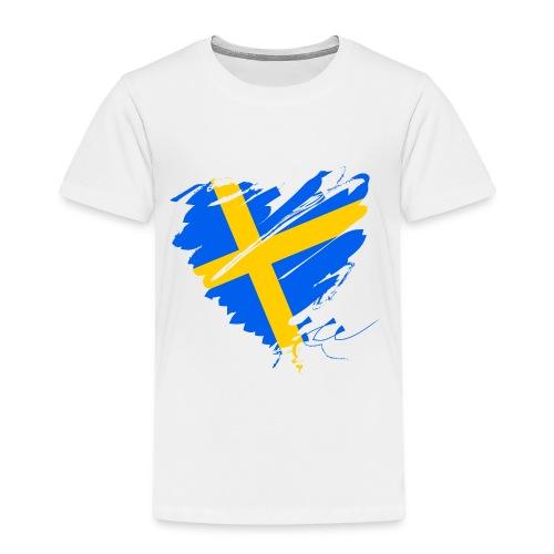 Schweden Skandinavien Europa Fahne Flagge Herz - Kinder Premium T-Shirt