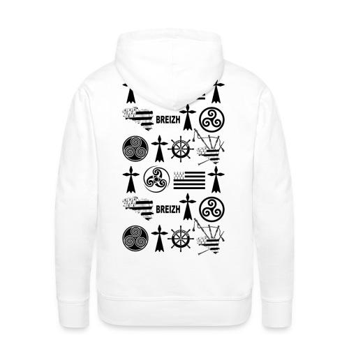 Breizh - Bretagne - Sweat-shirt à capuche Premium pour hommes