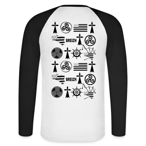 Breizh - Bretagne - T-shirt baseball manches longues Homme