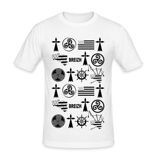 Breizh - Bretagne - T-shirt près du corps Homme
