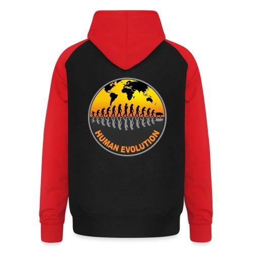 HUMAN EVOLUTION - Sweat-shirt baseball unisexe