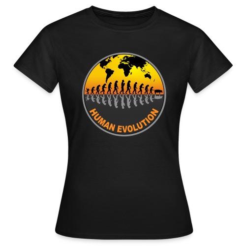 HUMAN EVOLUTION - T-shirt Femme