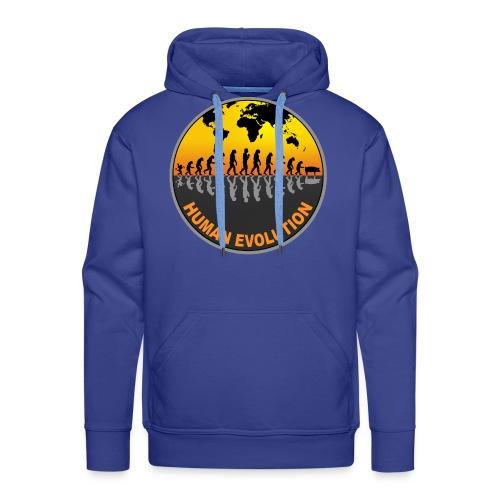 HUMAN EVOLUTION - Sweat-shirt à capuche Premium pour hommes