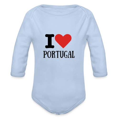 BODY BEBE I LOVE PORTUGAL - Body bébé bio manches longues