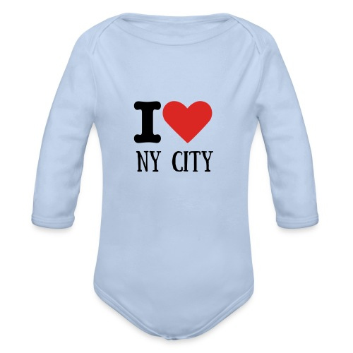 BODY BEBE I LOVE NY CITY - Body bébé bio manches longues