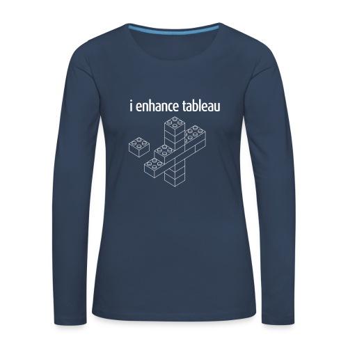 Women's Long Sleeve - i enhance tableau - Women's Premium Longsleeve Shirt