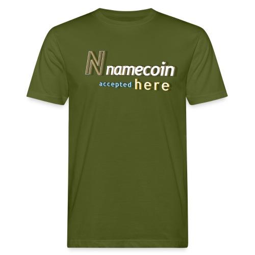 N namecoin accepted here - Männer Bio-T-Shirt