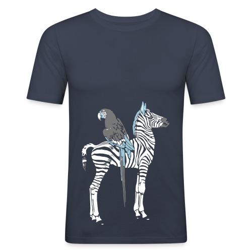 Zebra & Parrot - Men's Slim Fit T-Shirt