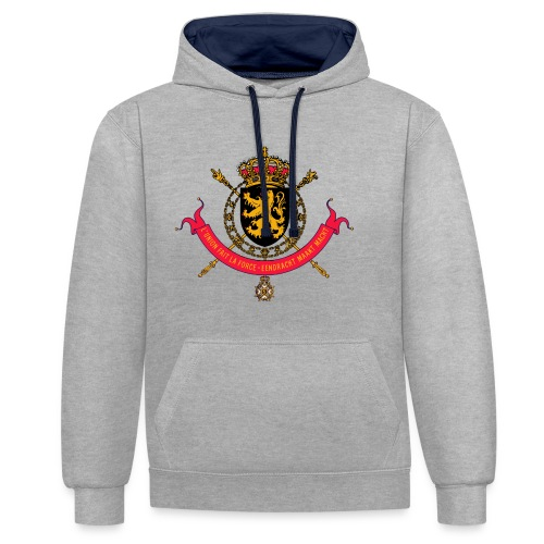 SWEAT UNISEXE ARMOIRIES BELGIQUE - Sweat-shirt contraste