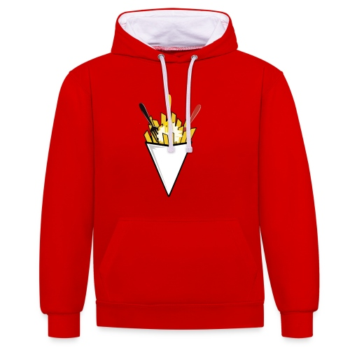 SWEAT UNISEXE FRITE BELGE - Sweat-shirt contraste