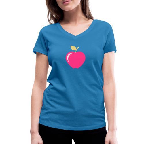 Apple - Frauen Bio-T-Shirt mit V-Ausschnitt von Stanley & Stella