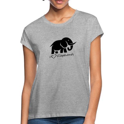 I Love Elephants - Frauen Oversize T-Shirt