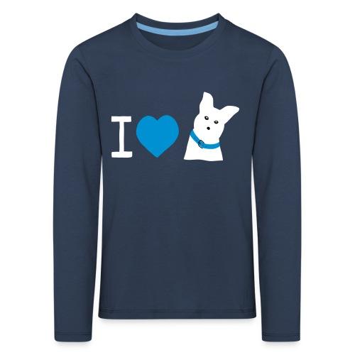 I love Dogs - Kinder Premium Langarmshirt