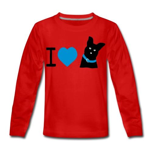 I love Dogs - Teenager Premium Langarmshirt