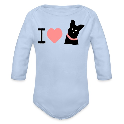 I love Dogs - Baby Bio-Langarm-Body