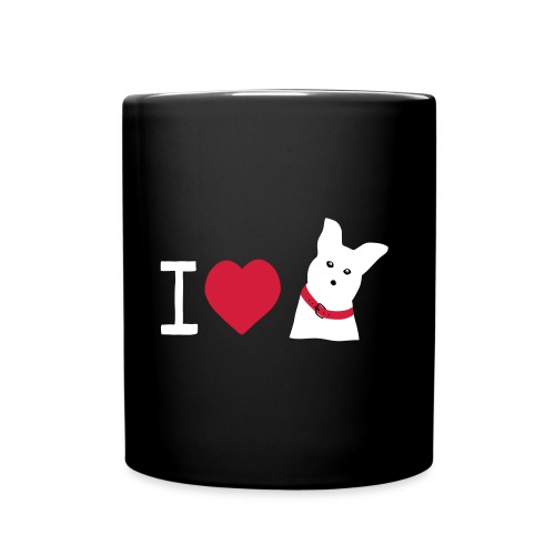 I love Dogs - Tasse einfarbig