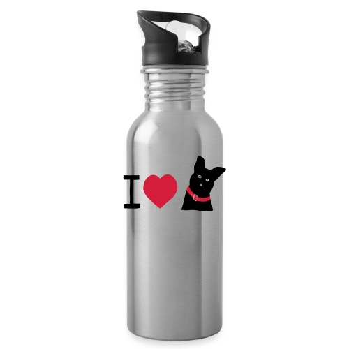 I love Dogs - Trinkflasche