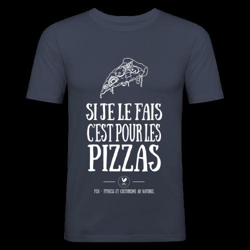 Pizza Lover Forever - T-shirt près du corps Homme