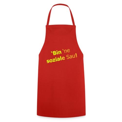 'Bin 'ne soziale Sau! Ich bin eine human Vektor - Kochschürze
