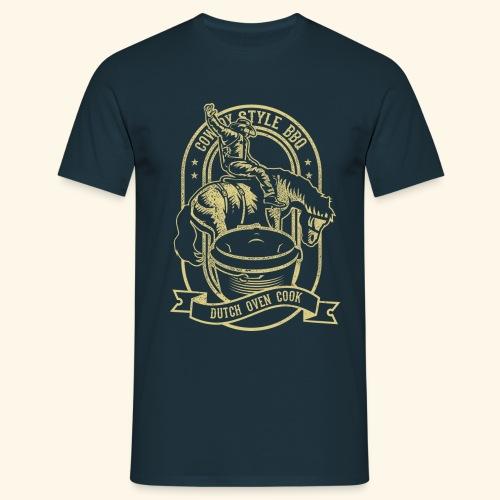 Cowboy Style BBQ Dutch Oven T-Shirt für Grillfans - Männer T-Shirt