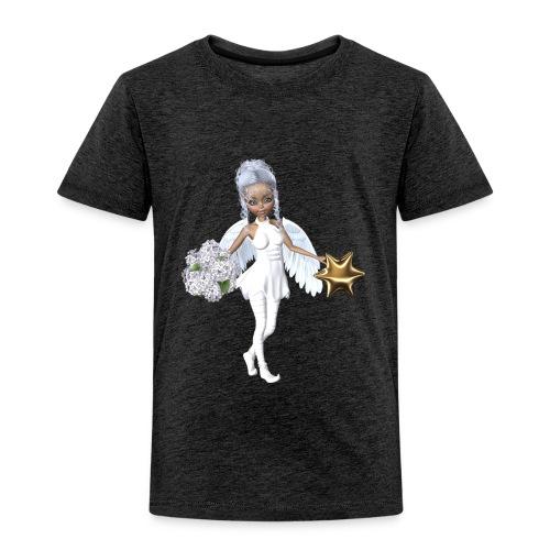 Engel mit Blume und Sternchen - Kinder Premium T-Shirt