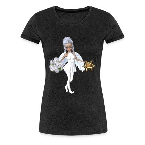 Engel mit Blume und Sternchen - Frauen Premium T-Shirt