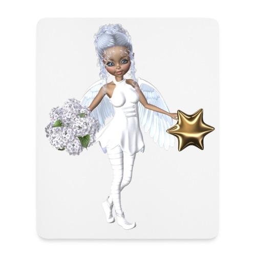 Engel mit Blume und Sternchen - Mousepad (Hochformat)
