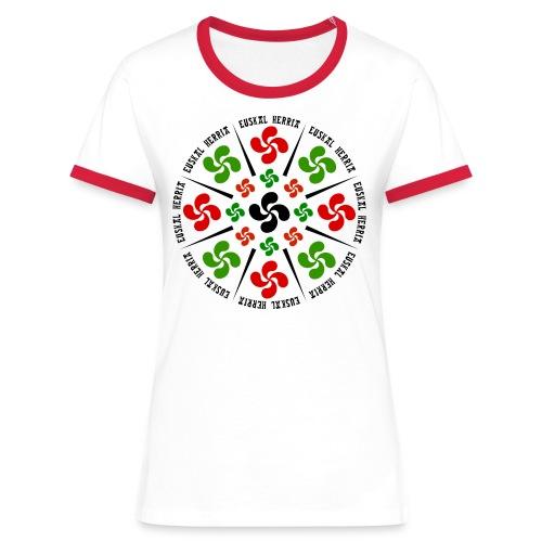 Croix Basques - T-shirt contrasté Femme