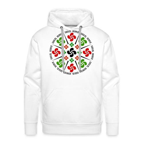Croix Basques - Sweat-shirt à capuche Premium pour hommes