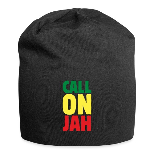 Call on Jah - Jah Rastafari - Reggae Roots Beanie - Jersey-Beanie