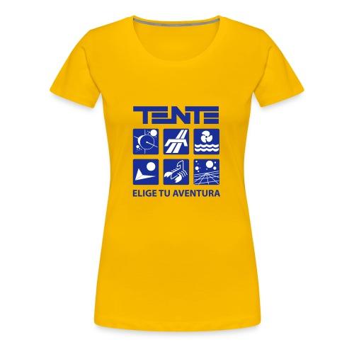 Camiseta mujer series TENTE (Amarillo) - Camiseta premium mujer