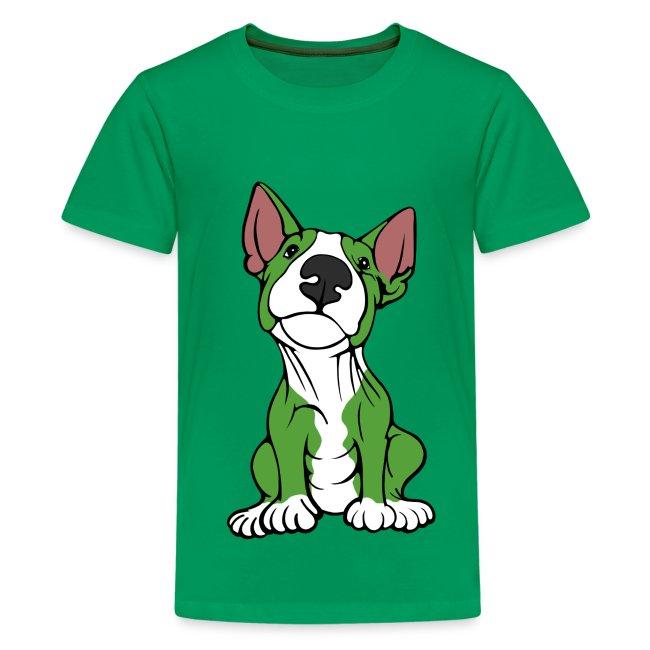 Cheeky Bull Terrier Green
