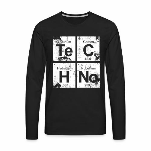 Techno Broken Elements - langarm Shirt - Männer Premium Langarmshirt