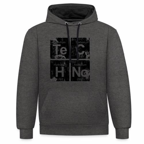 Techno Broken Elements - Hoodie - Kontrast-Hoodie