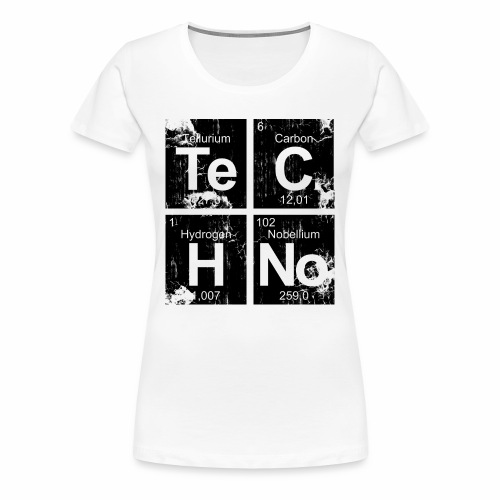 Techno Broken Elements - T-Shirt - Frauen Premium T-Shirt