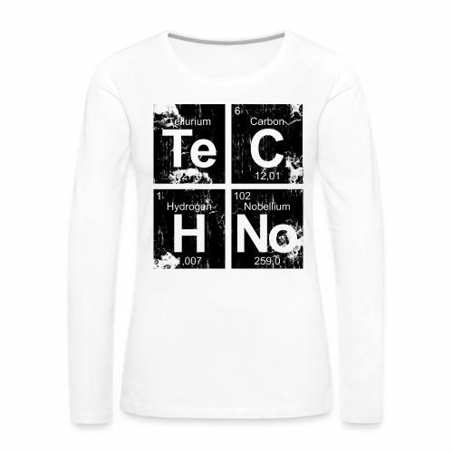 Techno Broken Elements - langarm Shirt - Frauen Premium Langarmshirt