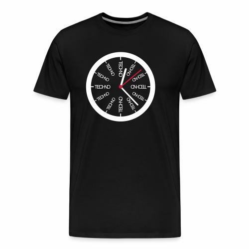 Uhr Techno All Time - T-Shirt - Männer Premium T-Shirt
