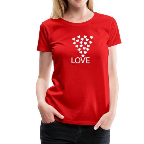 Frauen Premium T-Shirt: Love Hearts - Frauen Premium T-Shirt